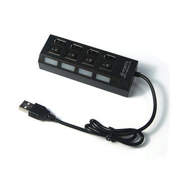 Hub USB 2.0 4 cổng công tắc HU Copy